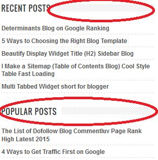 Cara Modifikasi Judul (H2) Widget pada Sidebar dan Footer Blog