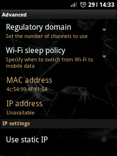 How to Configure WiFi IP Address for Android?