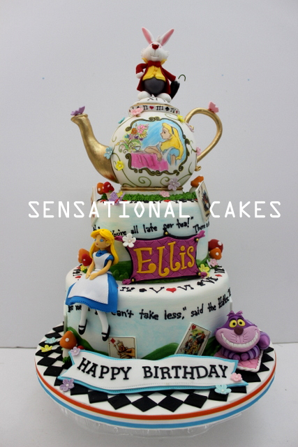 The Sensational Cakes Alice in Wonderland theme 3d cake singapore