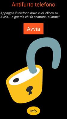 Antifurto telefono (App Android)