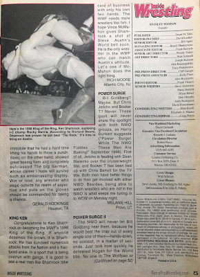 Inside Wrestling  - November 1998 - Sincerely Yours letters (2)