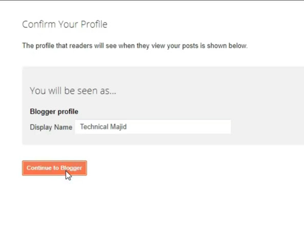 confirm your profile
