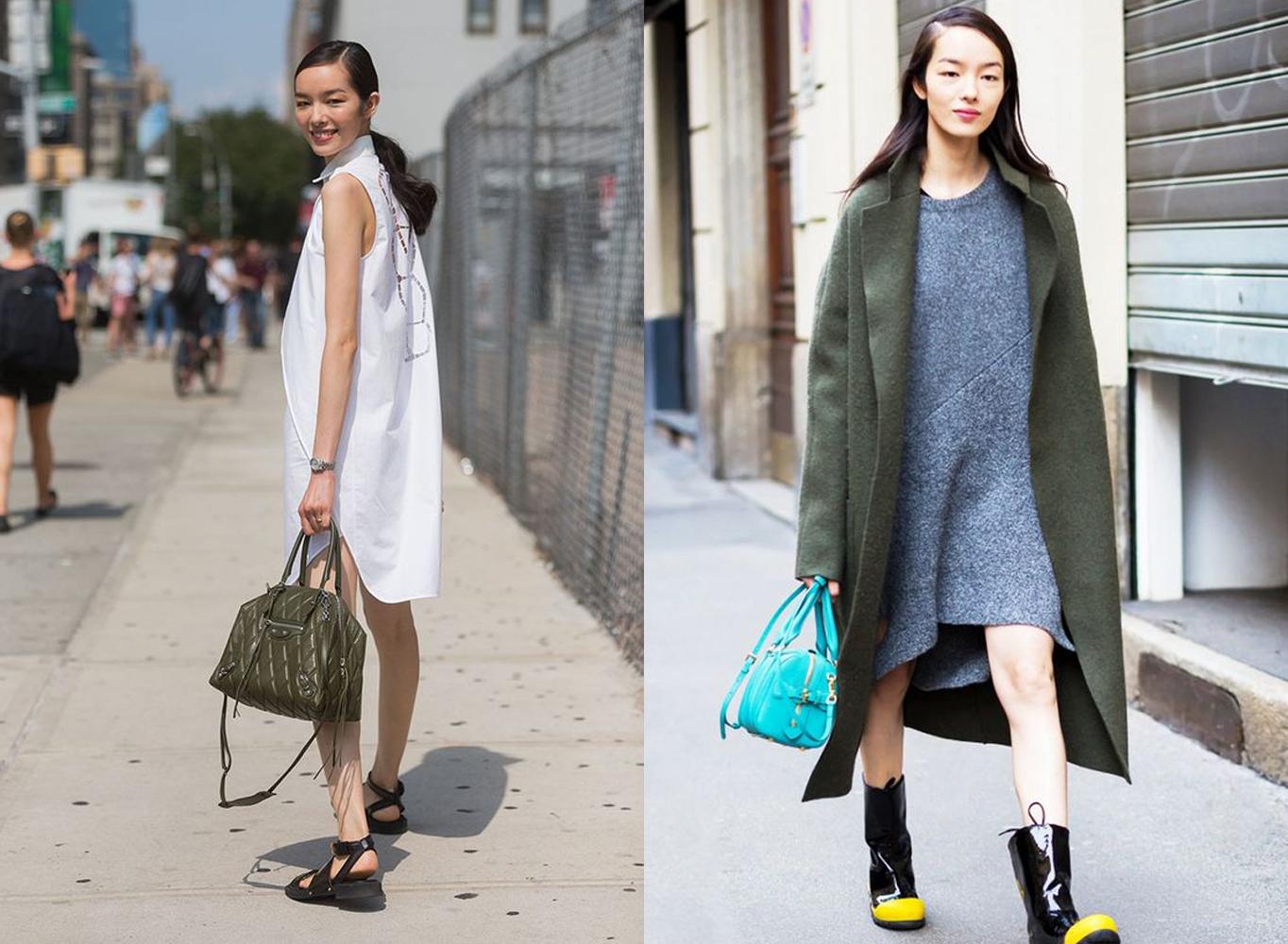 Fei Fei Sun off suty, street style outfit