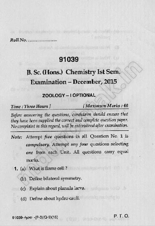 Download-bsc-hons-chemistry-1st-sem-optional-ZOOLOGY-1-dec-2015-question-paper