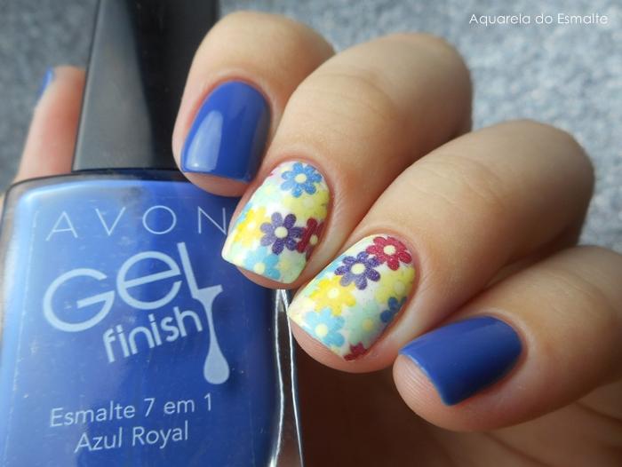 Esmalte Avon - Azul Royal + Película Sindy Francesinhas