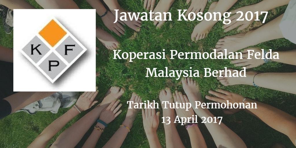 Jawatan Kosong Koperasi Permodalan Felda Malaysia Berhad 13 April 2017
