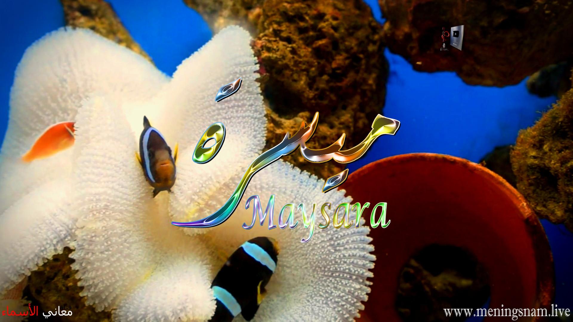 معنى اسم ميسرة وصفات حاملة و حامل هذا الاسم Maysara