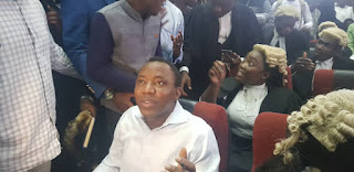 First photo of Sowore as he appears in court