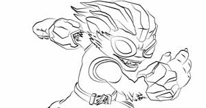 skylanders coloring pages freeze blade - photo#5