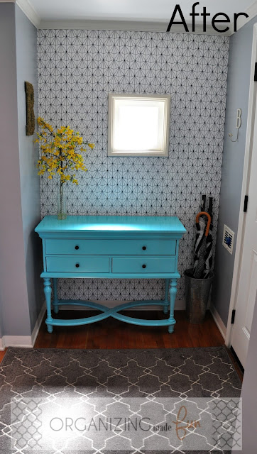 After: Entry full of color and pattern :: OrganizingMadeFun.com