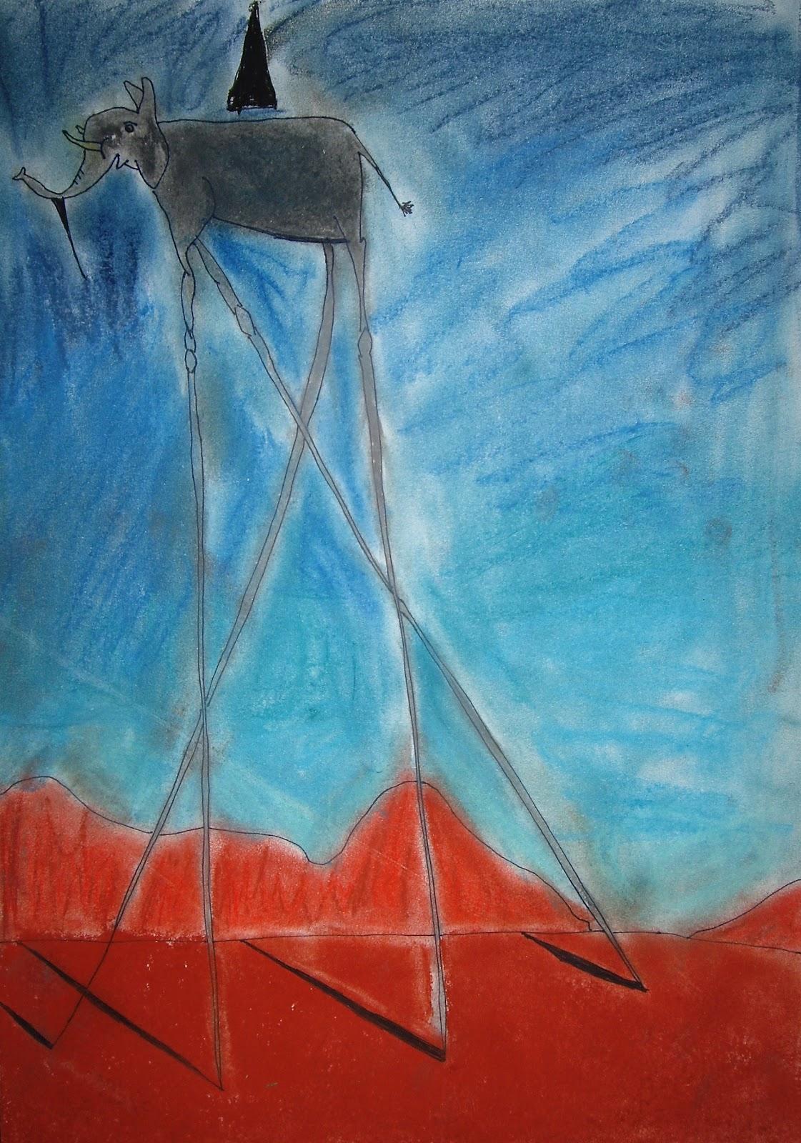 Use Your Coloured Pencils: Dali Elephants