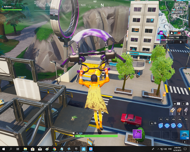 Accessible by wearing the Nana Cape Back Bling inside a Banana Stand FORTBYTE Mission #43