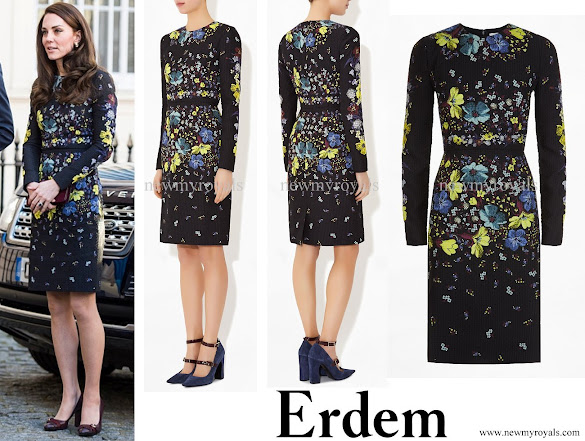 Kate Middleton wore ERDEM Evita Dress