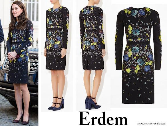 Kate Middleton wore ERDEM Evita Dress