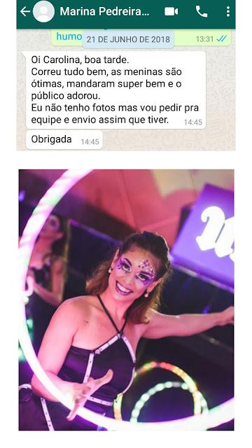O que nossa cliente disse sobre as dançarinas led para festa de lançamento da Urban Decay que aconteceu no Cine Joia em São Paulo.