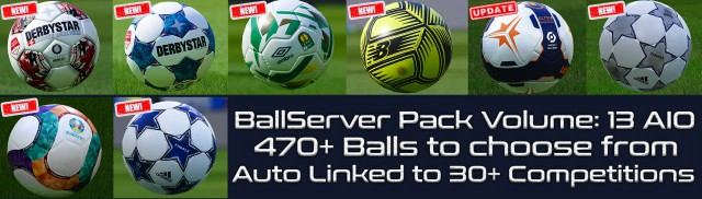PES 2021 Ball Server Pack V13 AIO by Hawke