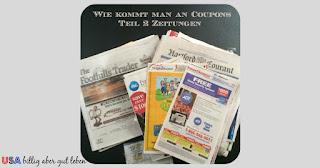 Zeitungen mit Coupons