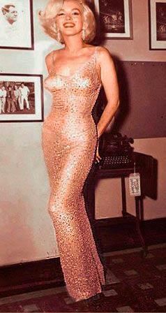 Marilyn Monroe vestido aniversário do keneddy