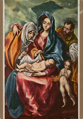Postal La Sagrada Familia de El Greco