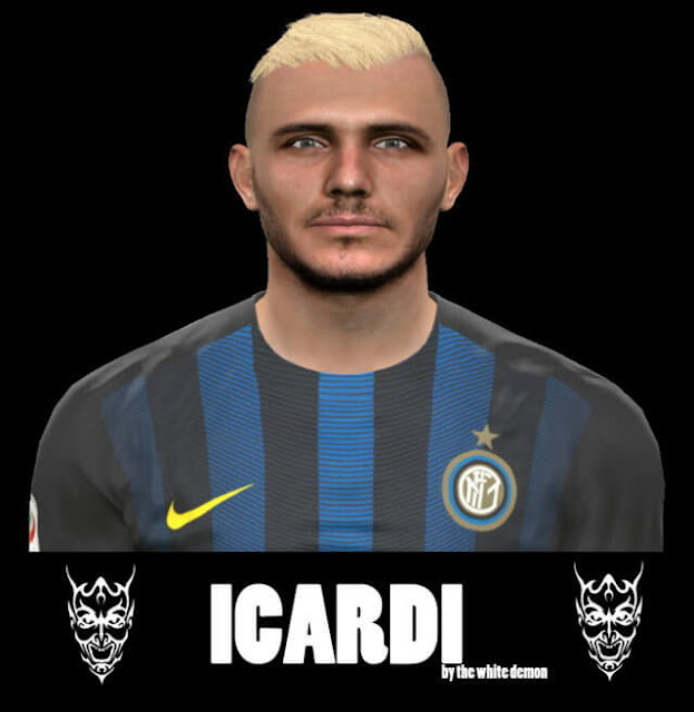 Icardi Face with Blonde Hair PES 2017