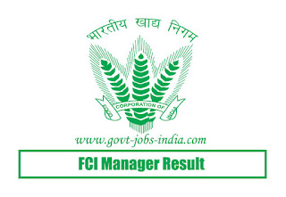 FCI Manager Result 2019