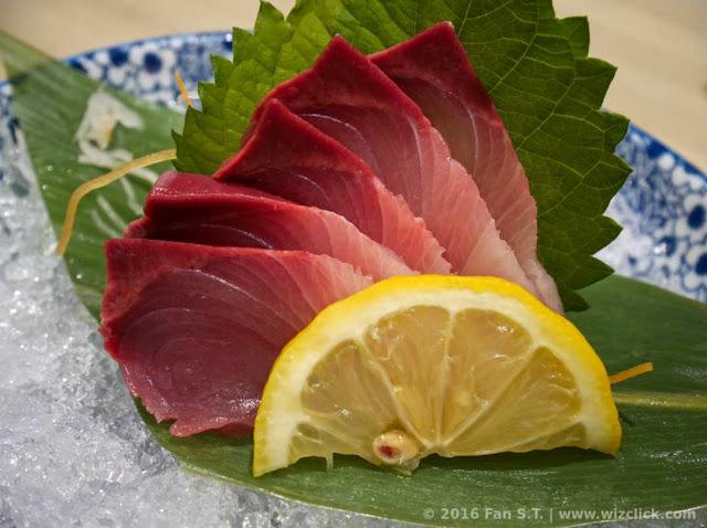 Hamachi sashimi or yellowtail sashimi from Ichiban Boshi Japanese restaurant