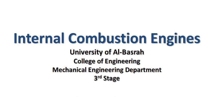 Internal Combustion Engines PDF مكائن احتراق داخلي