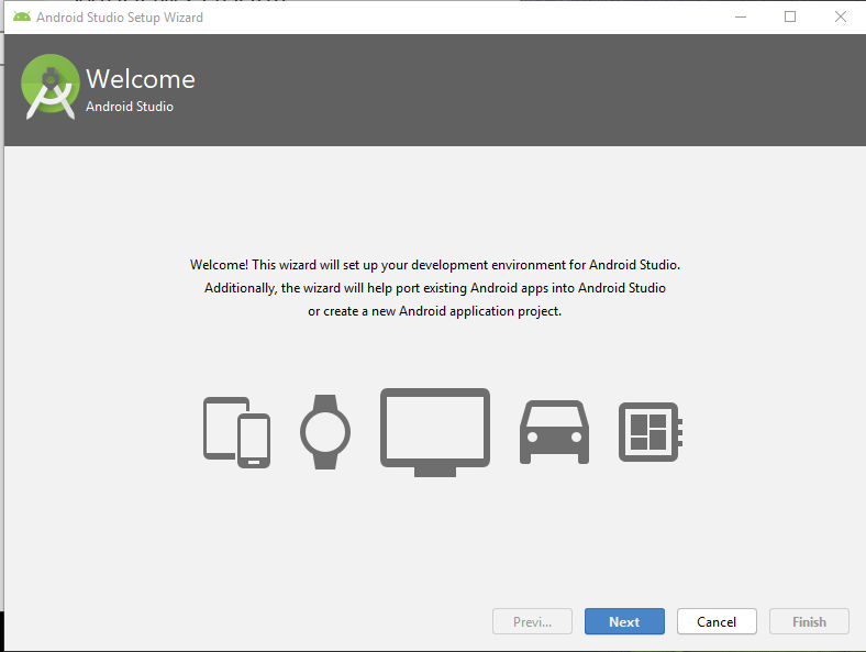 wellcome to android studio