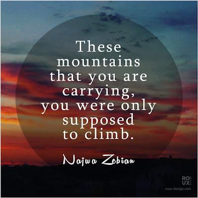 Najwa Zebian Quotes Mountains