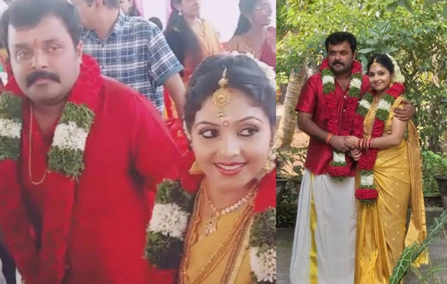 actors Adithyan Jayan and Ambili Devi wedding