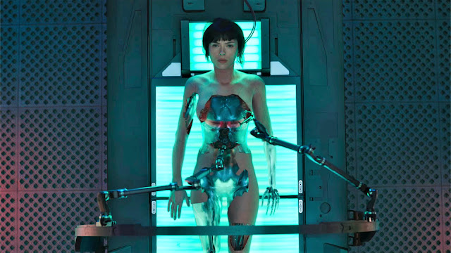 "Scarlett Johansson is a troubled android in ""Ghost in the Shell"""