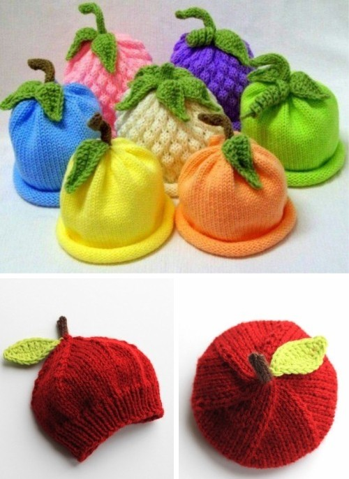 Caps for Babies - Free Knitting Pattern