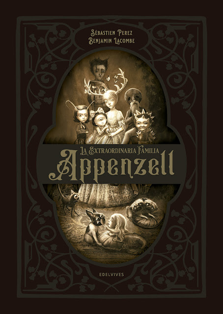 Benjamin Lacombe Portada del Libro La extraordinaria familia Appenzell