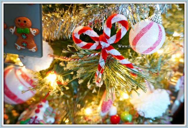 Cottage- Farmhouse- Christmas -Trees-DIY-Candy-Cane-Pipe-Cleaner-Bows-From My Front Porch To Yours
