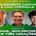 Estreia de canal de Lacombe terá impactante live com Coppolla e Alexandre Garcia