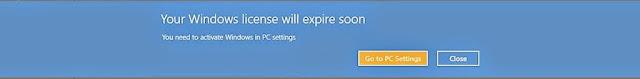 Cara mengatasi Your Windows license will expire soon