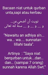 Niat Qurban Untuk Orang Lain