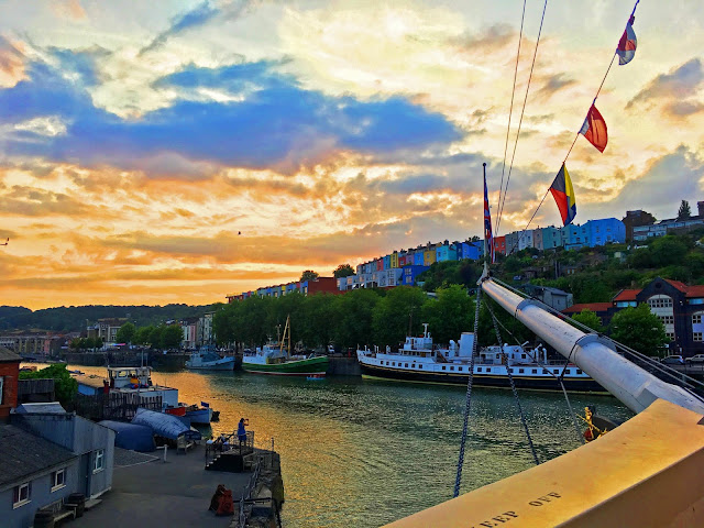 Sunset in Bristol at the SS Great Britain