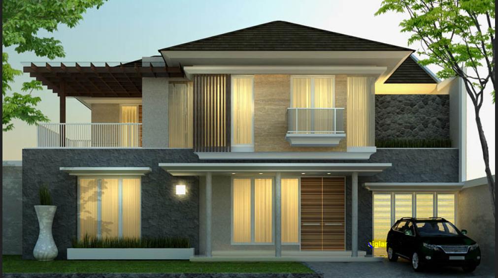Rumah Minimalis 2 Lantai Luas 100 M  populer 31 rumah minimalis elegan 2 lantai