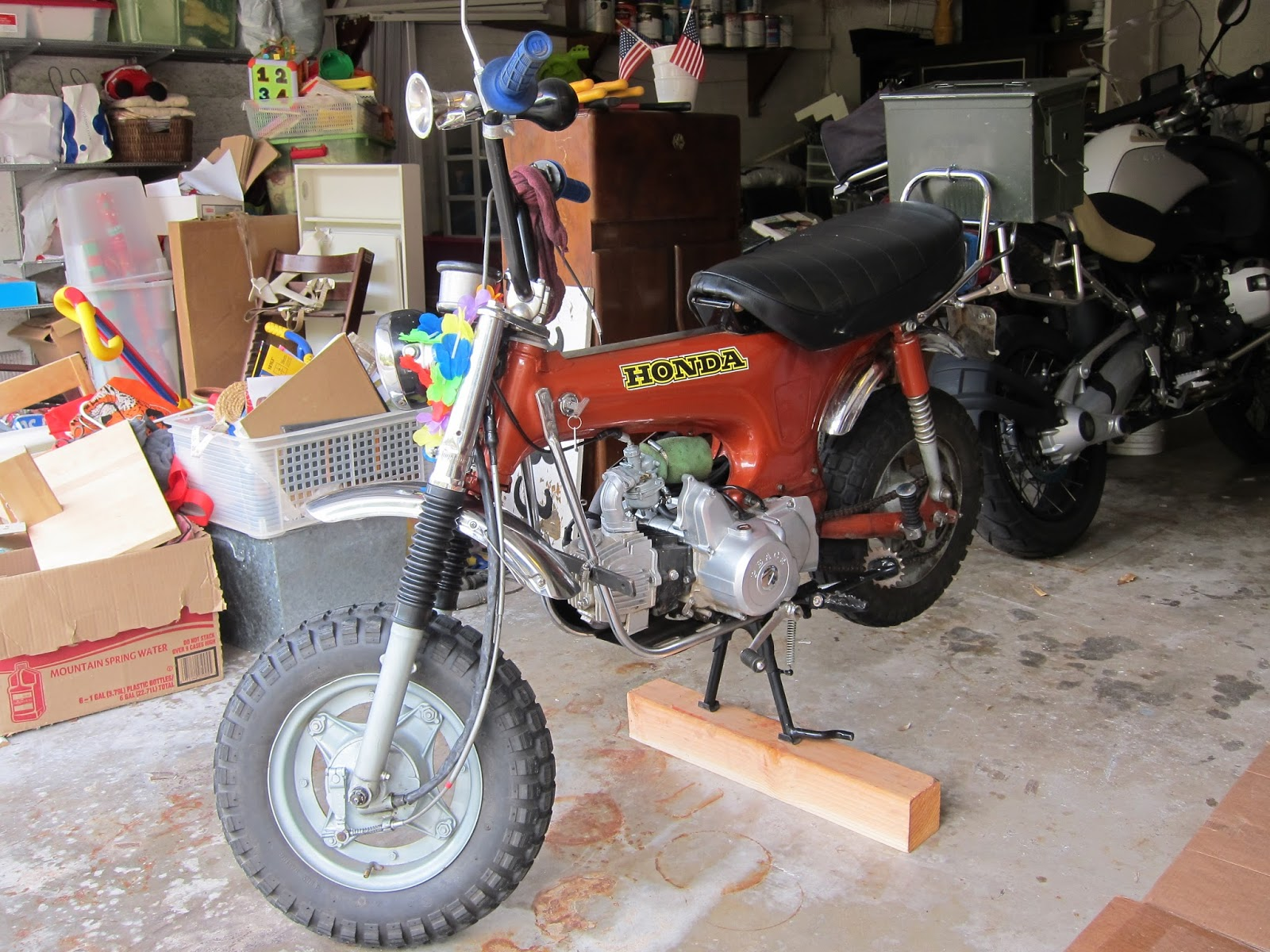 My Honda Trail 70 And Street Legal Conversion Tips 1970 Ct70 Specs 110cc Semi Auto Engine Newly Added Rack With Ammo Can Summer 2012
