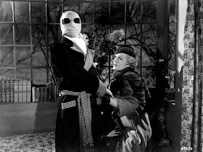 The Invisible Man 1933 movie still Claude Rains Gloria Stewart
