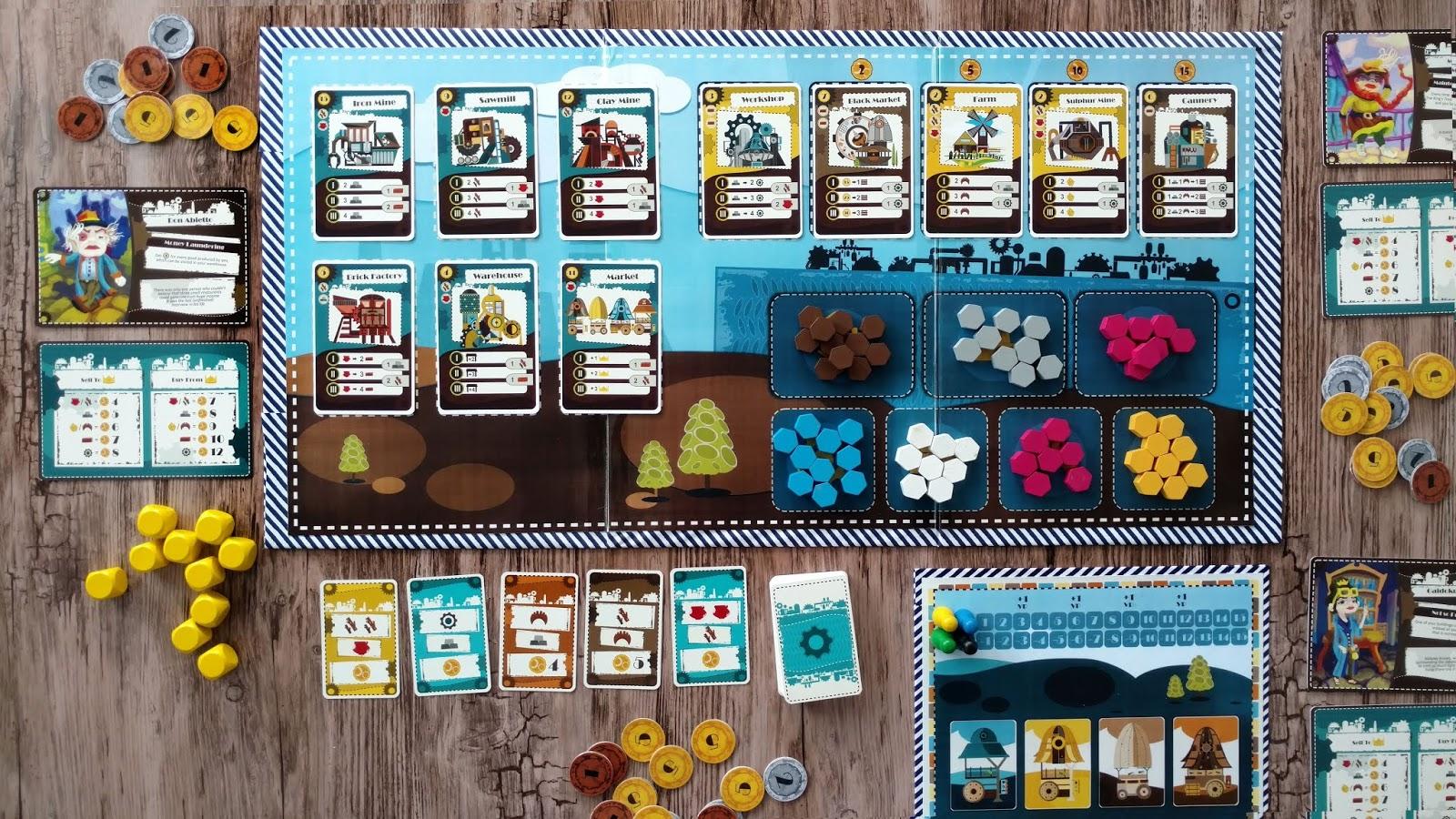 board game joc rusty industry