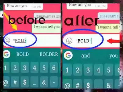bold text on whatsapp