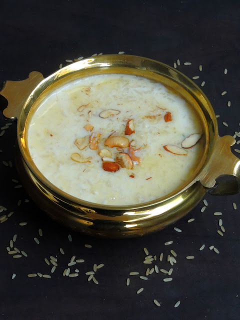 Brown rice Paal payasam