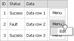 ASP  Net developer's blog: ASPxMenu in ASPxGridview with menu items
