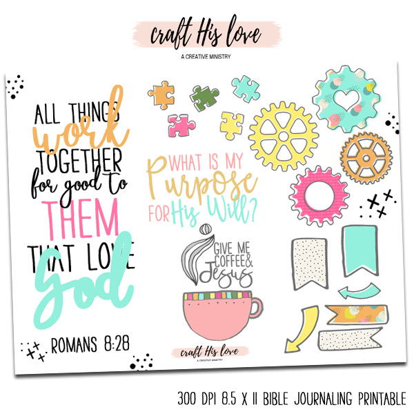 All Things Work Together Bible Journaling Free Printable
