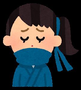 いろいろな表情の忍者のイラスト(女性・泣いた顔)