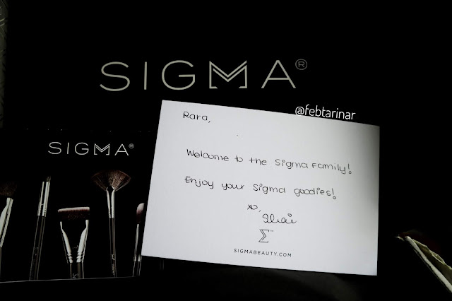 Sigma Beauty Brush unboxing febtarinar.com