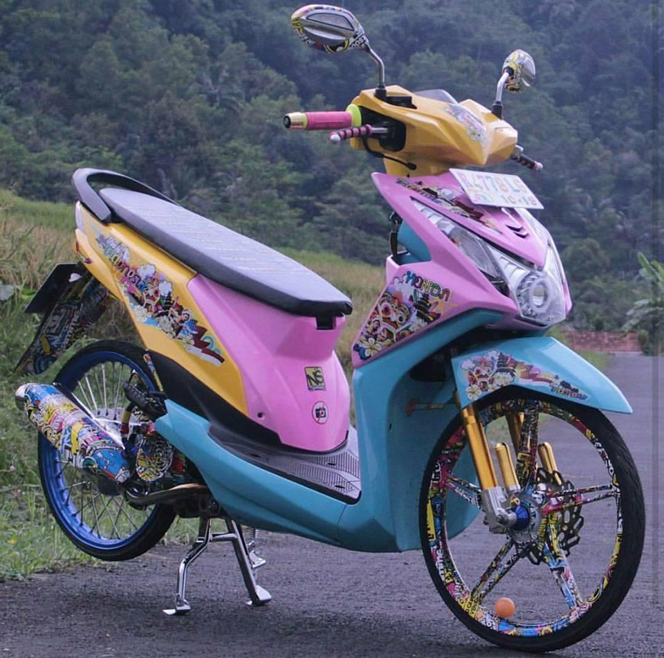 30 Gambar Foto Modifikasi Motor Beat Matic Honda