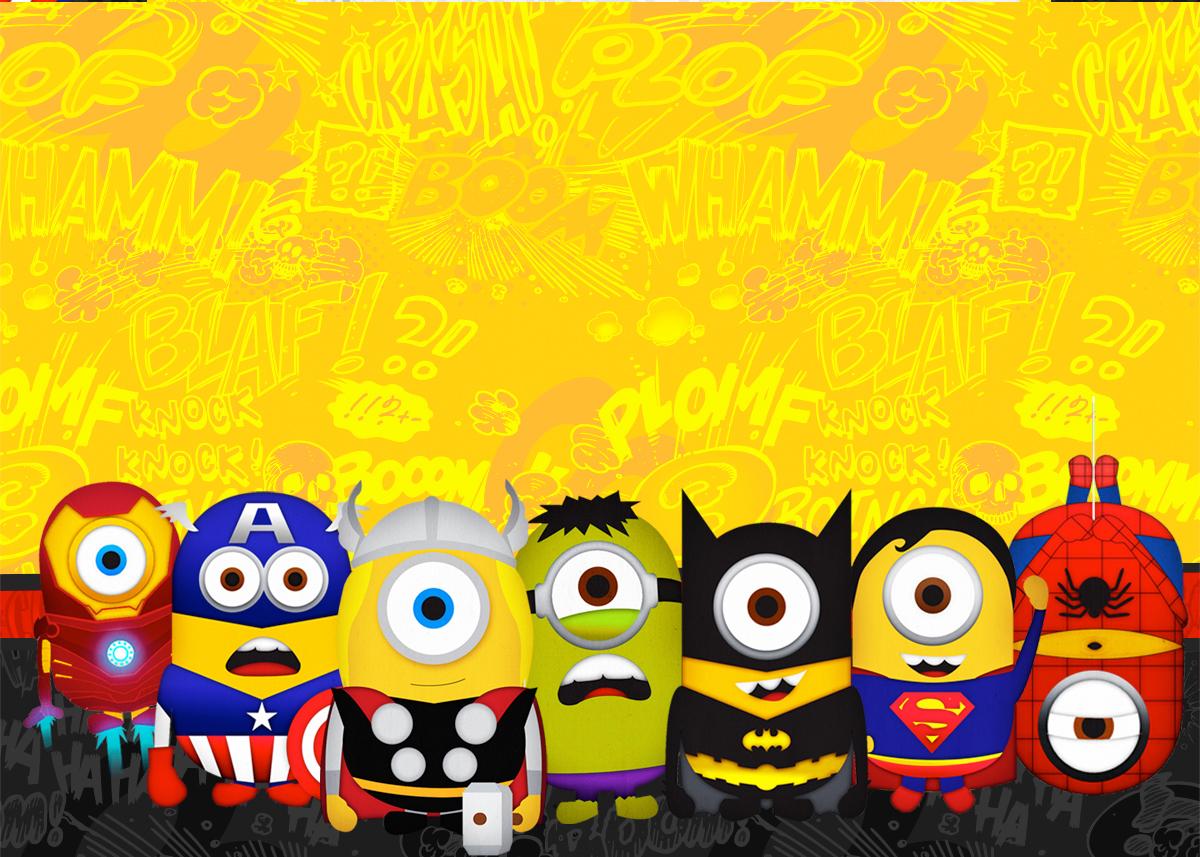 Minions Superheroes: Free Printables Invitations. - Oh My